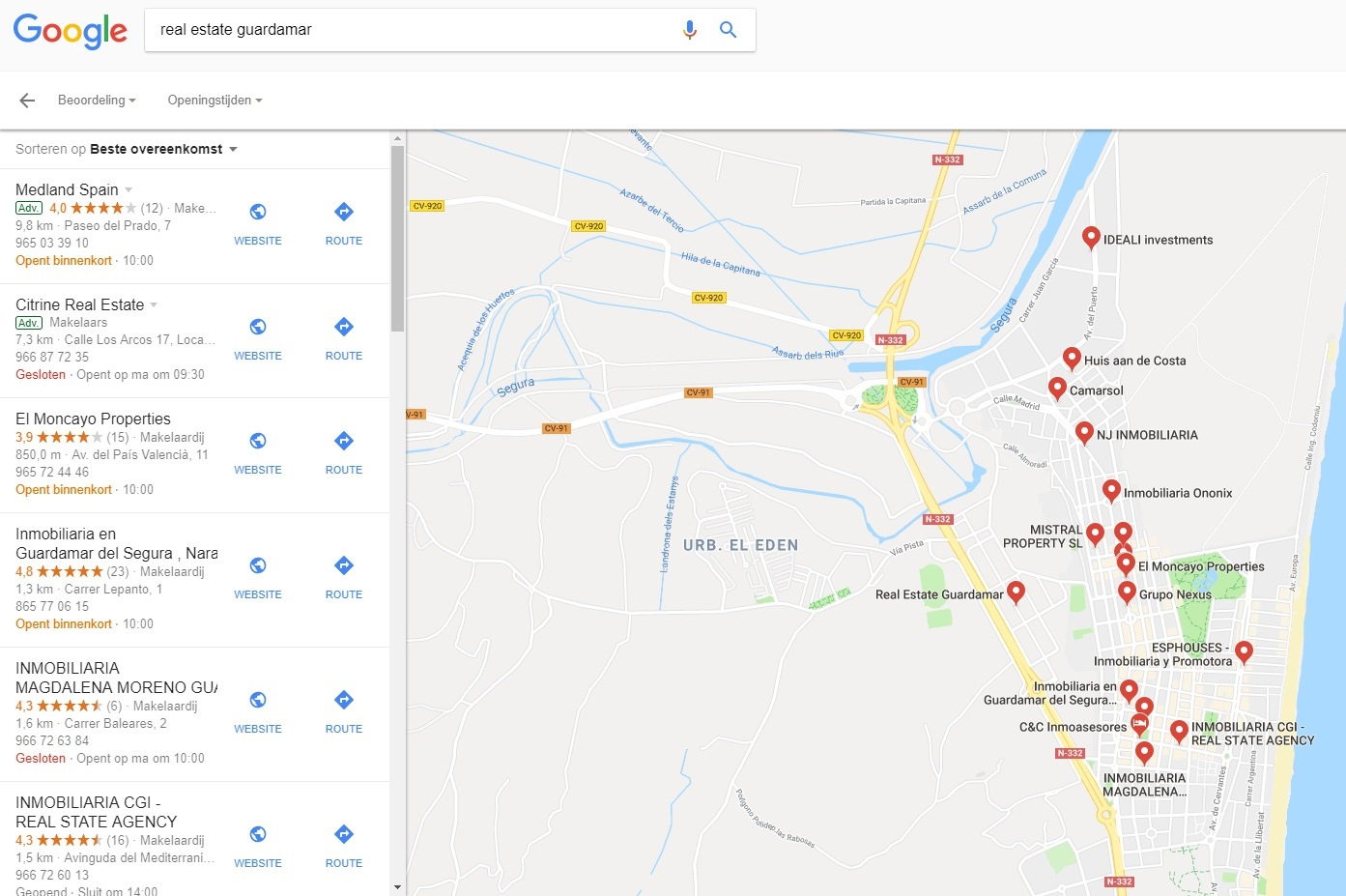 Vindbaarheid in Google-zoekresultaat-real-estate-guardamar-jpg