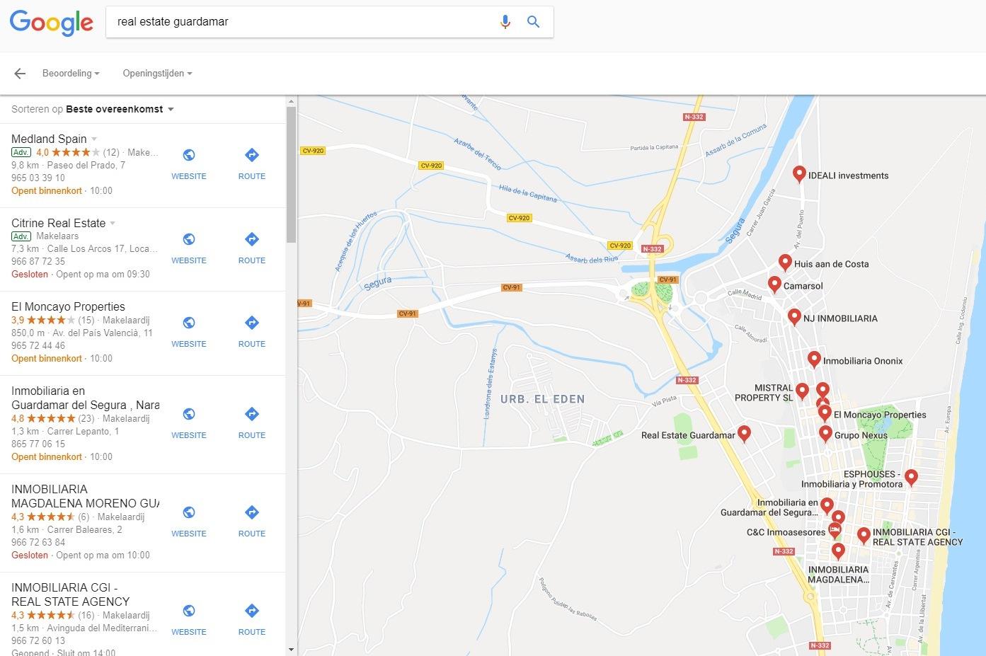 Vindbaarheid in Google-zoekresultaat-real-estate-guardamar-jpg