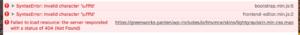 Syntax Error : Invalid Token-schermafbeelding-2018-09-om-09-png