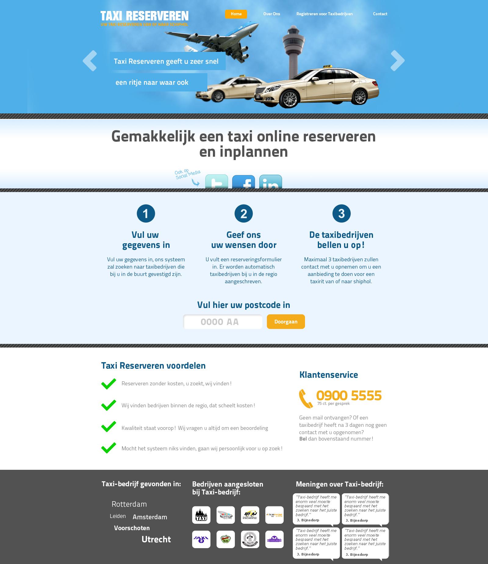 Taxi/Openbaar vervoer layout