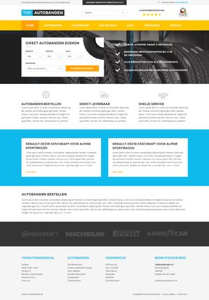 Ontwerp voor autobanden webshop-homepage-png