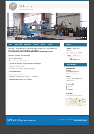 Website ontwerp voor technisch bedrijf-123tools-jpg