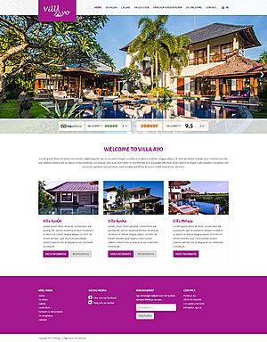 Webdesign voor vakantie villa website-villa-ayo-home-jpg