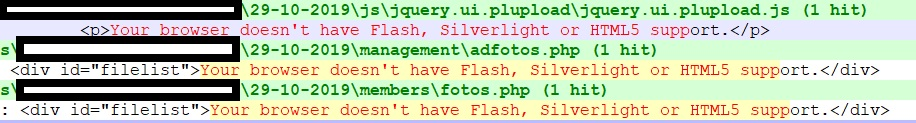 Fout: No Flash, Silverlight or HTML5 support.-warning-jpg