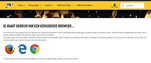 Google Meta-Title geeft aan Verouderde Browser-path-verouderde-browser-jpg