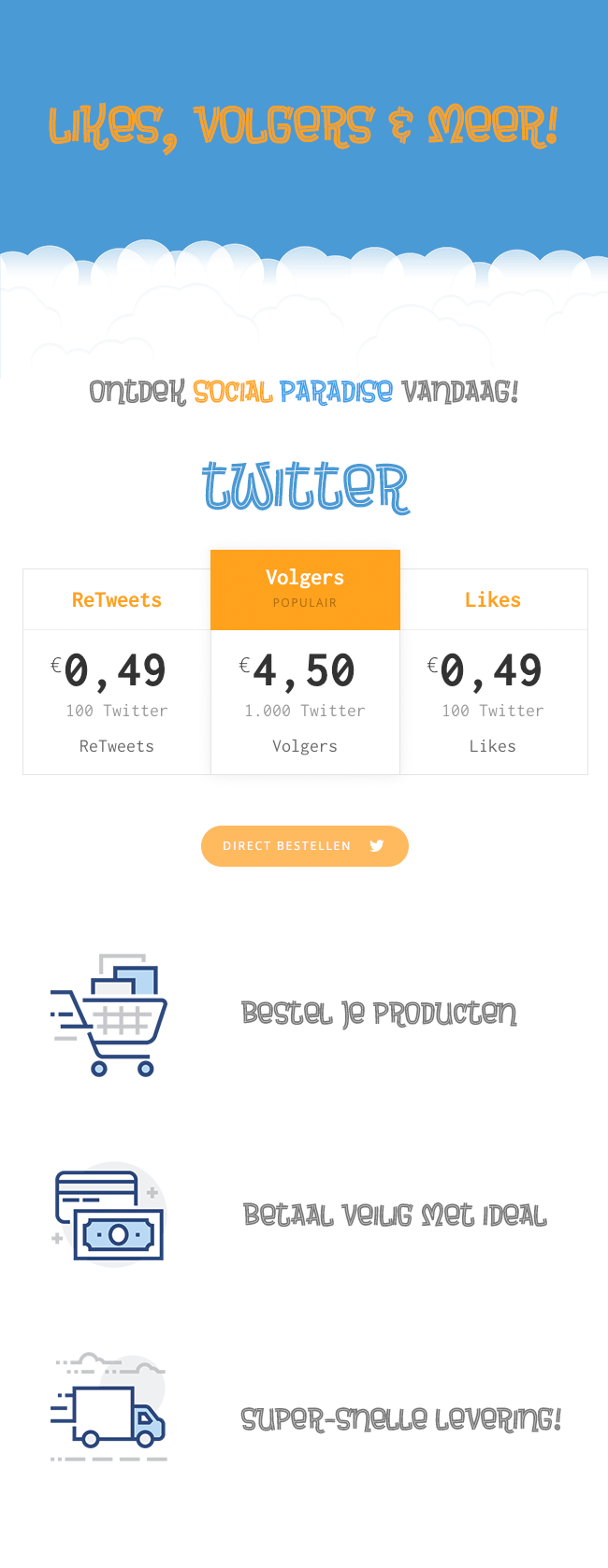 Volgers, RT's & Likes   Lage Prijzen - Snelle Levering-twitter-volgers-png