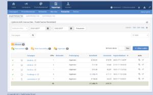 Affiliate website in meubels met omzet-lijstoverzicht-transacties-png
