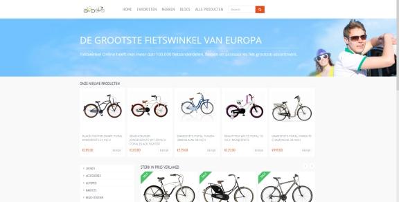 Affiliate website met inkomsten zonder enige vorm van promotie-fietswinkelonline-jpg