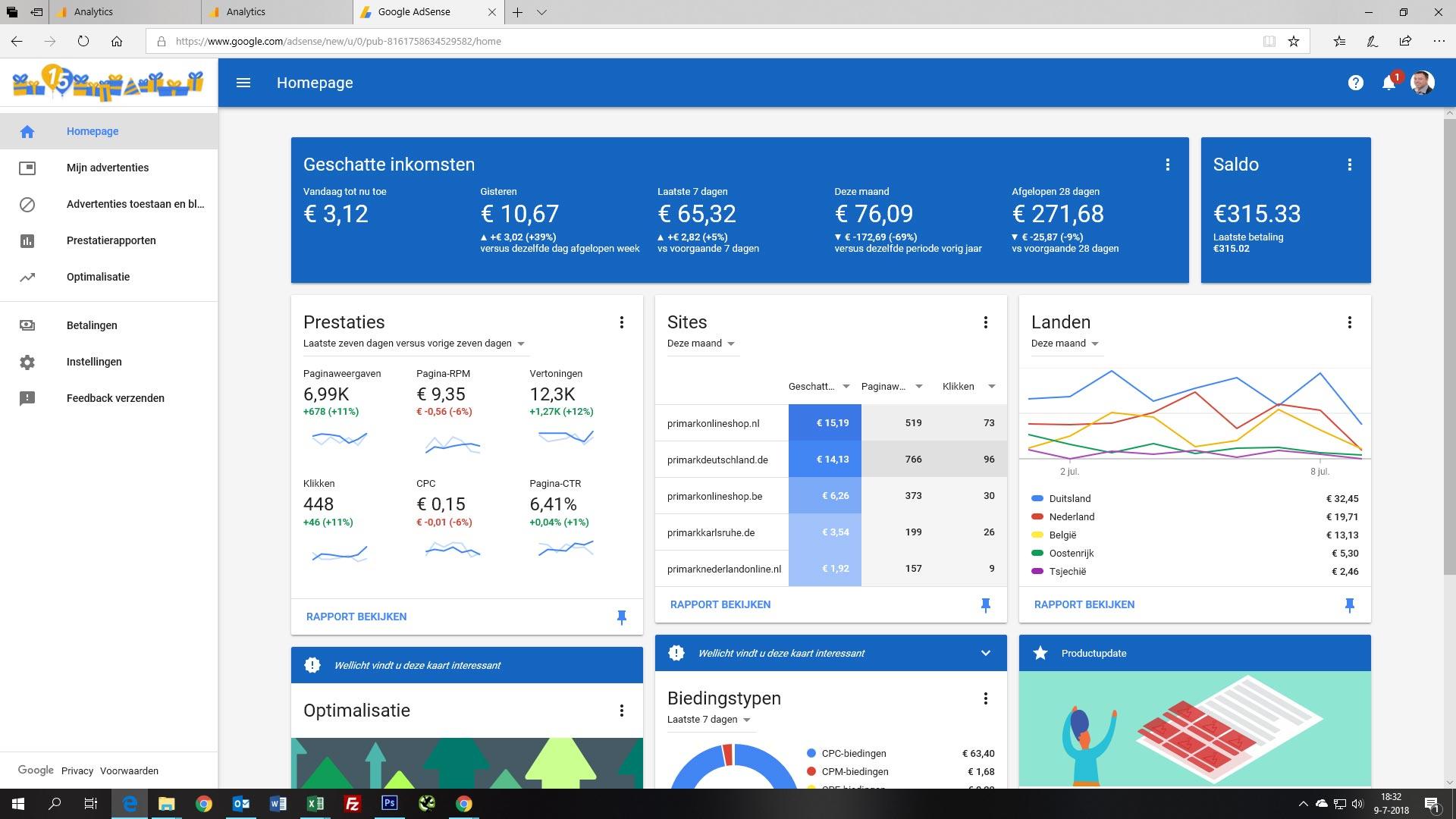 GROOT MODE GERELATEERD website netwerk te koop (ACTIEF IN: NL/DE/AT)-adsence-overzicht-2018-jpg