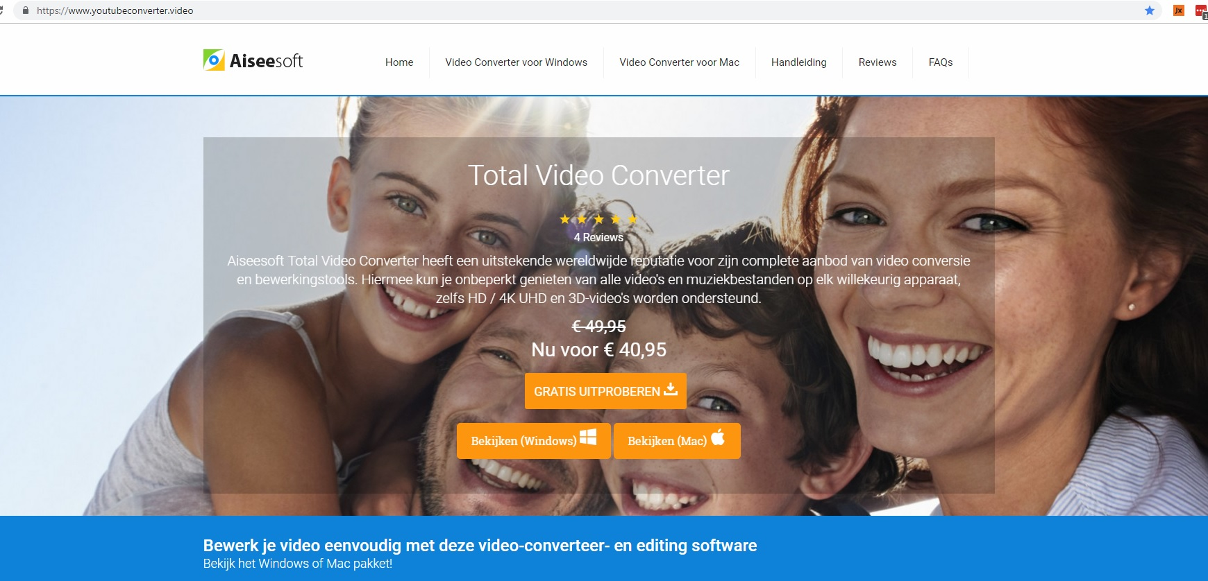 Website te koop - direct starten met verkopen van software - biedingen zijn welkom-totalvideoconverter-jpg
