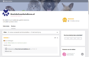 Uitstekende geautomatiseerde Dierenwinkel dewinkelvoorhuisdieren.nl-visitors-png