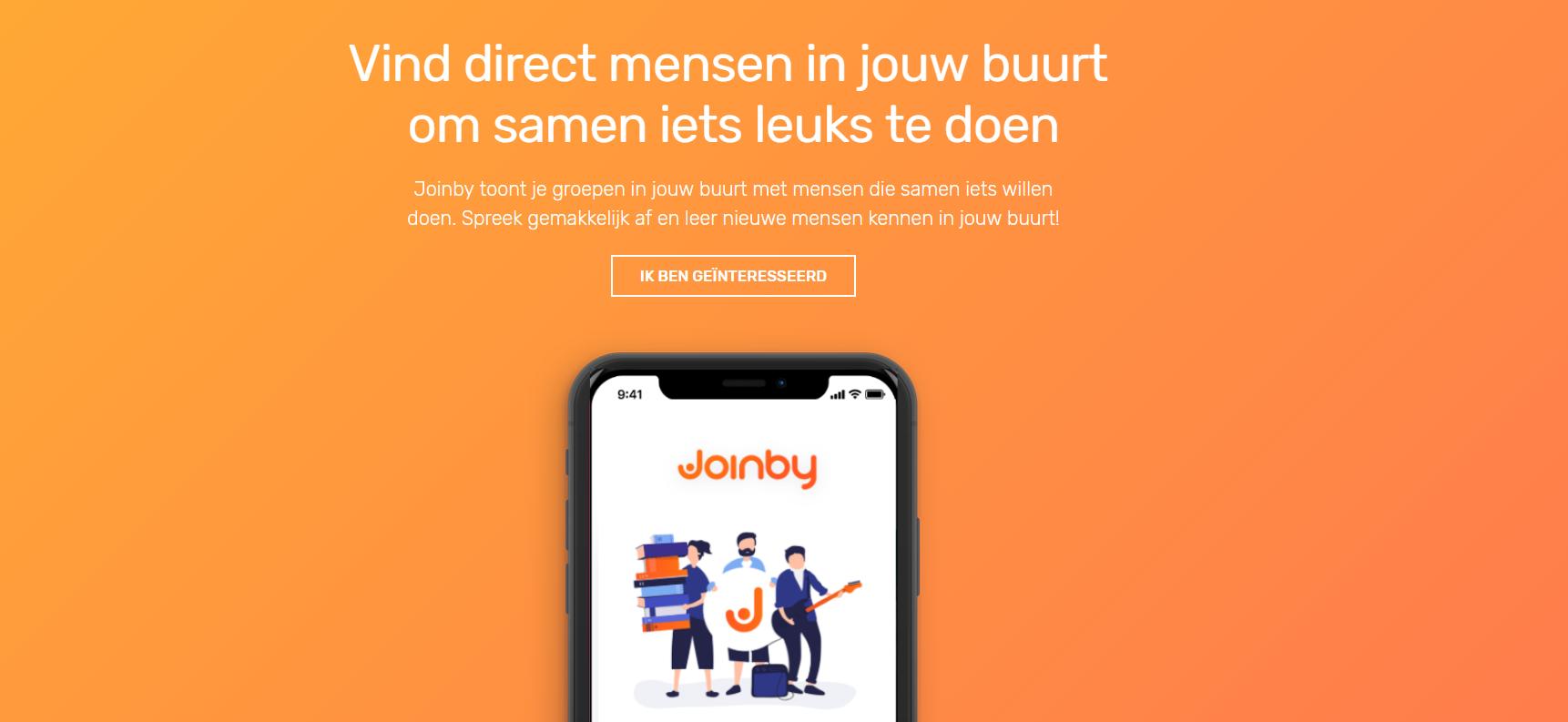 BETA testers gezocht voor nieuwe sociale app!-joinby-homepage-png